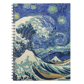 Die große Welle weg von Kanagawa - die Notizblock