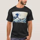 """""""Die große Wellen-"""" japanische Malerei von Hokusai T-Shirt"""