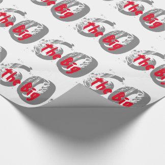 Die großen 60, Geburtstag, Grau, roter Text auf Geschenkpapier