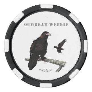Die großen Wedgie Poker-Chips Poker Chip Set