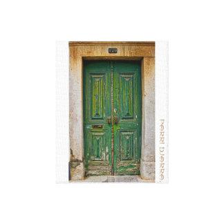 Die Grüne Tür Leinwanddruck