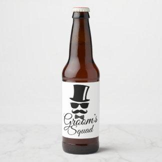 Die Gruppe des Bräutigams Bierflaschenetikett