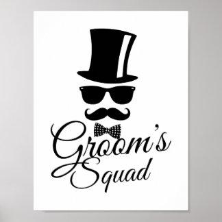Die Gruppe des Bräutigams Poster