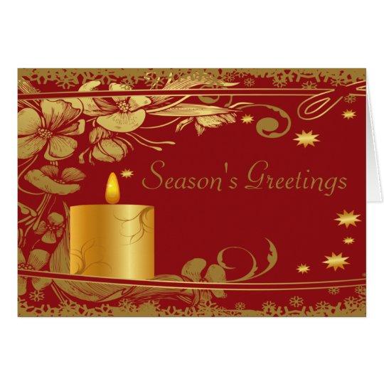 Die Gruß-Goldkerze der Jahreszeit Grußkarte