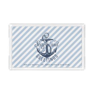 """Die Gruß-"""" Marine der See""""Jahreszeit Striped Acryl Tablett"""