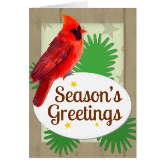 Die Gruß-rotes Kardinals-Weihnachten Notecard der Karte