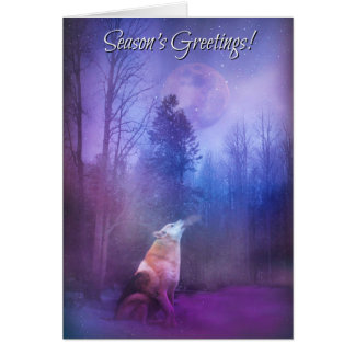 Die Gruß-Wolf der Jahreszeit in der Schnee-Karte Karte