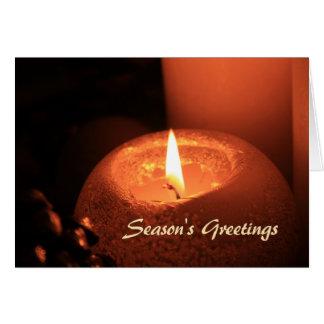 Die Grüße der Jahreszeit, die Kerzenweihnachten Karte