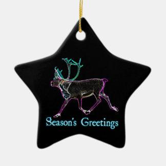 Die Grüße der Jahreszeit - elektrisches Karibu Keramik Stern-Ornament