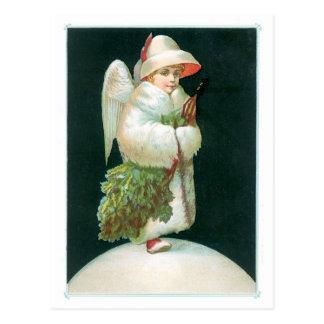 Die Grüße der Jahreszeit - Weihnachtsengel Postkarte
