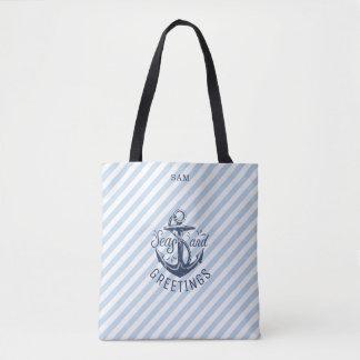 Die Grüße der Seejahreszeit, Marine-Streifen Tasche