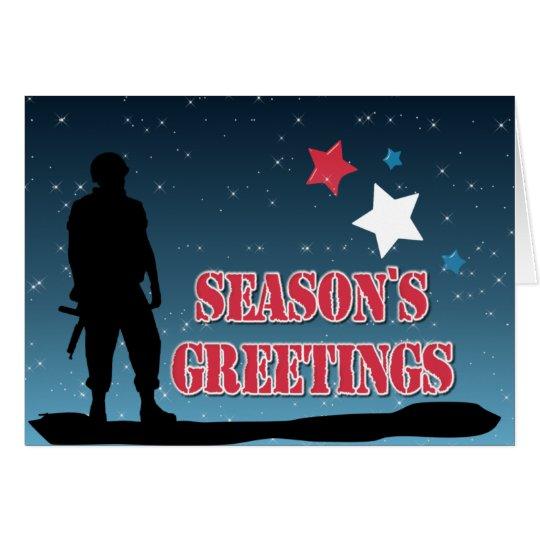 Die Grüße der Soldat-Jahreszeit Grußkarte