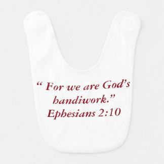 """Die Handarbeits-"""" Baby-Schellfisch """"des Gottes Babylätzchen"""