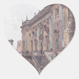 Die Hauptstadt in Rom durch Rudolf von Alt Herz-Aufkleber