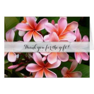 Die hawaiischen Wedding Blumen danken Ihnen Mitteilungskarte
