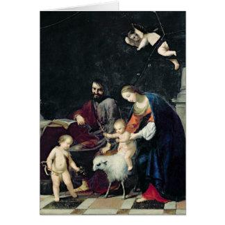 Die heilige Familie Karte