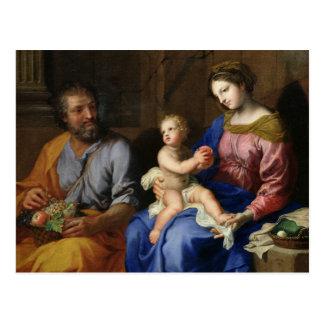 Die heilige Familie Postkarte