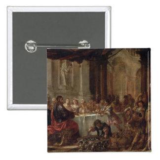 Die Heirat bei Cana, 1660 Quadratischer Button 5,1 Cm