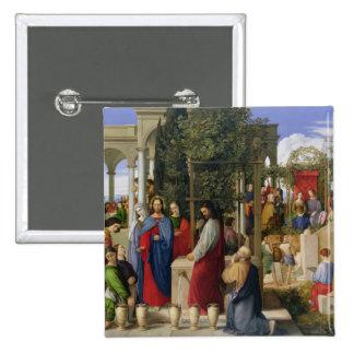 Die Heirat bei Cana, 1819 Quadratischer Button 5,1 Cm