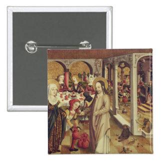 Die Heirat bei Cana, c.1500 Quadratischer Button 5,1 Cm