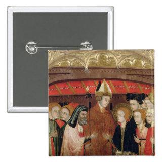 Die Heirat der Jungfrau Quadratischer Button 5,1 Cm