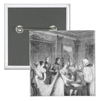 Die Heirat der Prinzessin Charlotte von Quadratischer Button 5,1 Cm