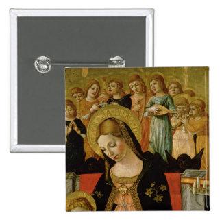 Die Heirat des Heiligen Catherine von Siena Quadratischer Button 5,1 Cm