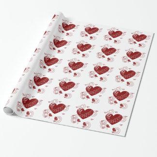 Die Herz-Packpapier des Valentinsgrußes Geschenkpapier