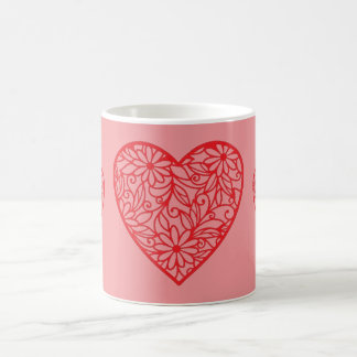 Die Herzen des Valentinsgrußes Kaffeetasse