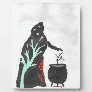 Die Hexe und ihr großer Kessel Fotoplatte