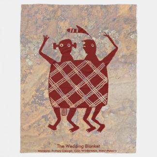 Die Hochzeits-Decke Fleecedecke