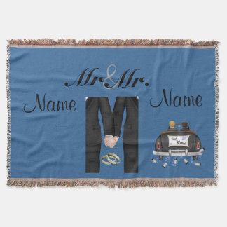 Die Hochzeits-Geschenk-Decken-Wurfs-Gewohnheit der Decke