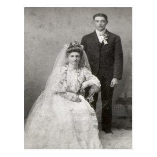 Die Hochzeits-Postkarte