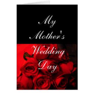 """Die Hochzeits-Tages"""" - hochrote Rosen """"meiner Grußkarte"""
