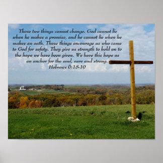 Die Hoffnung, die unser Soul verankert Poster