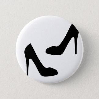 Die hohe Fersen-Schuhe der Frauen in der Runder Button 5,7 Cm