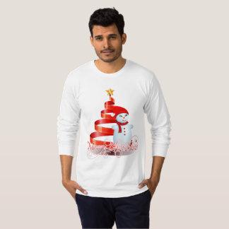 Die Hülsen-Weihnachtssnowman-T - Shirt der Männer