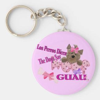 """Die Hunde sagen """"Schuss"""" (Rosa) Schlüsselanhänger"""