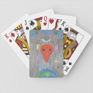 Die Interaktion UFO-Erde und die alien-Spielkarten Spielkarten