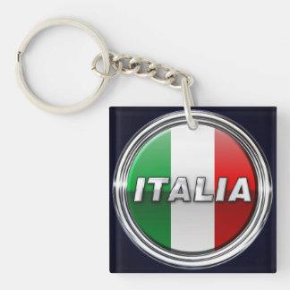 Die italienische Flagge - La Bandiera d'Italia Schlüsselanhänger