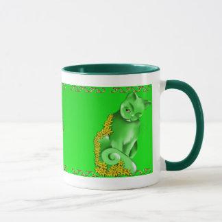 Die Jade-Katzen-Tasse Tasse