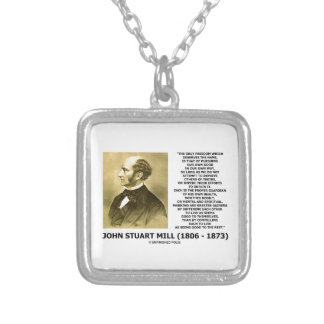 Die John Stuart Mill-Freiheits-Verfolgung besitzen Versilberte Kette