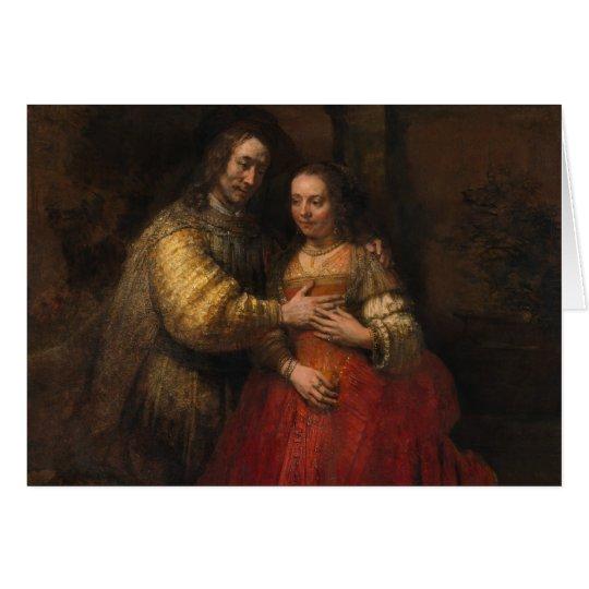 Die jüdische Braut durch Rembrandt Van Rijn Grußkarte