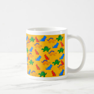 Die Jungen-Dinosaurier-Collagen-Gelb des Kaffeetasse