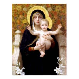Die Jungfrau der Lilien (La Vierge Au Lys) Postkarte