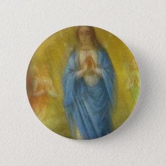Die Jungfrau Mary -   mittelalterlicher Zeitraum Runder Button 5,7 Cm