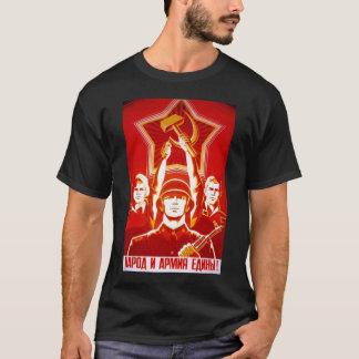 Die kalter Kriegs-Sowjetunions-Propaganda-Plakate T-Shirt
