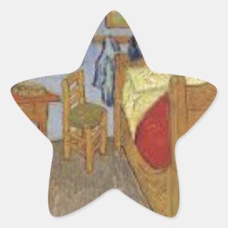 Die Kammer von Vincent van Gogh (The room) Stern-Aufkleber