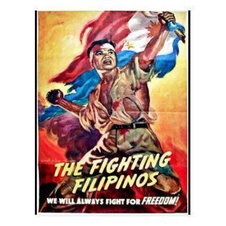 Die kämpfenden Filipinos Postkarte