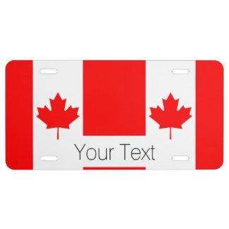 Die kanadische Flagge, Kanada US Nummernschild